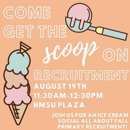 Event Flyer for Panhellenic Association Ice Cream Social