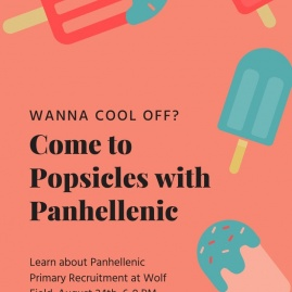 Popsicles with Panhellenic Flyer