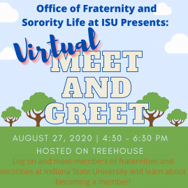 Fraternity and Sorority Life Meet and Greet Flyer