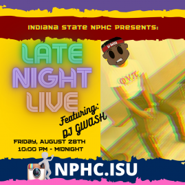 National Pan-Hellenic Council Late Night Live Flyer