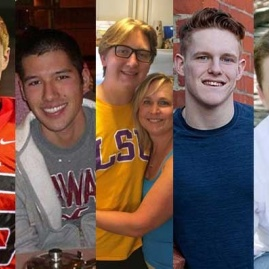 Photos of students who have passed away due to hazing related behaviors