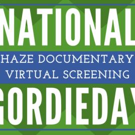 National GORDIE Day flyer for film screening and discussion