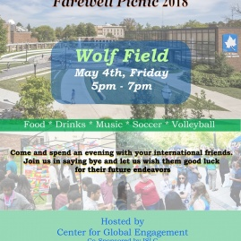 International Students Farewell Picnic 2018