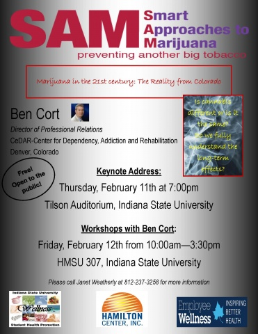 Smart Approaches to Marijuana flyer
