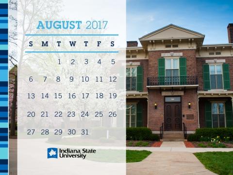 Indiana State University Desktop Background August 2017