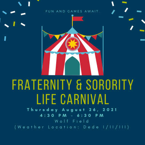 Flyer for 2021 Fraternity and Sorority Life Carnival