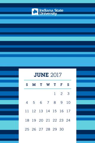 Indiana State University Alumni Association Sycamores June Calendar Mobile Phone Background