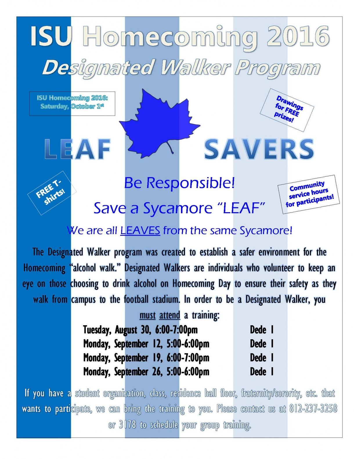 Designated Walker flyer 2016