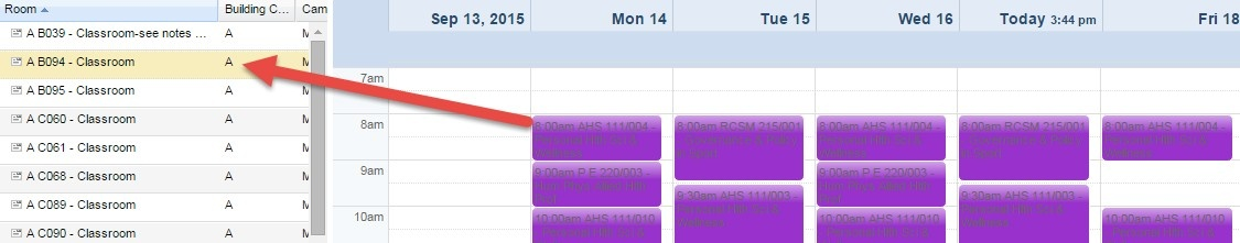 Scheduling Grid - Weekly View