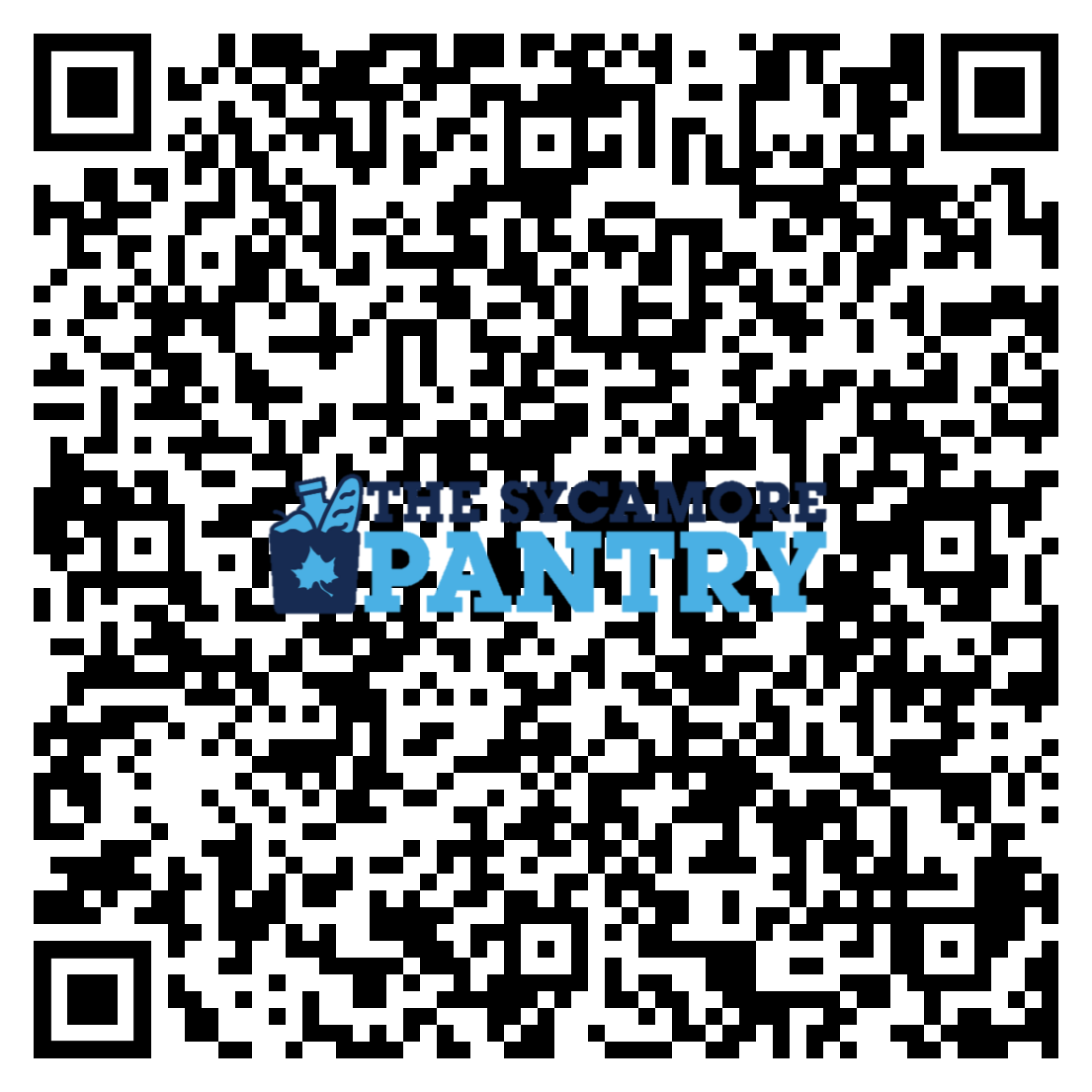 The Sycamore Pantry Appointment link QR code