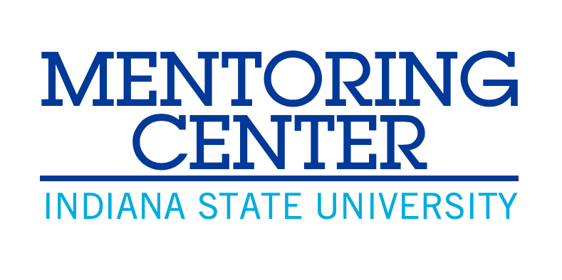 ISU Mentoring Center graphic element, reads: Mentoring Center, Indiana State University
