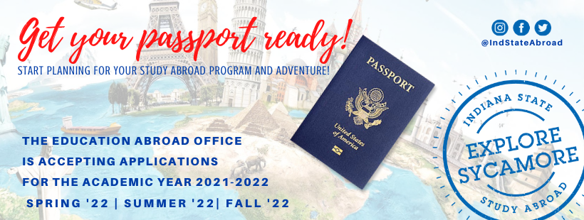 Accepting applications for Fall 22 Spring 22 Summer 22 for ISU Study Abroad programs.  Start planning today!