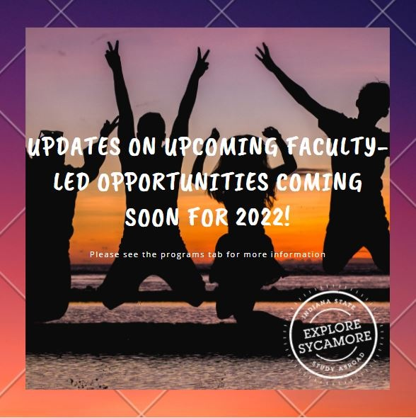 Faculty Led Flyer - Coming Soon