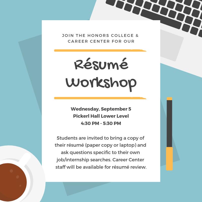 Resume Workshop on September 5