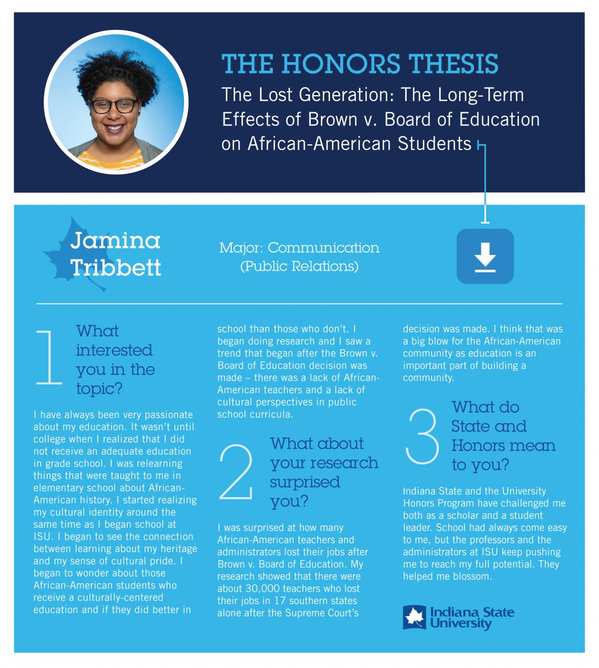 Honors Thesis: Jamina Tribbett