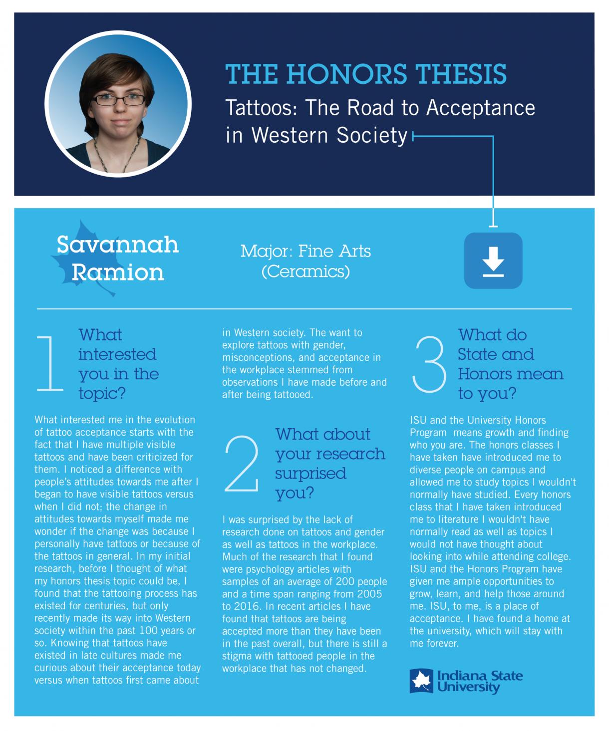 Honors Thesis: Savannah Ramion