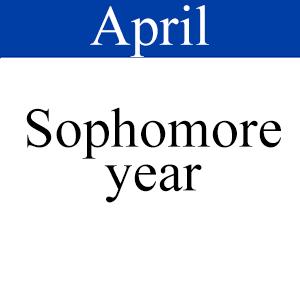 April Sophomore, Path to graduation