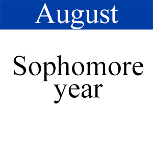 August Sophomore, Path to graduation