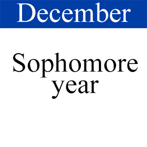 December Sophomore, Path to graduation