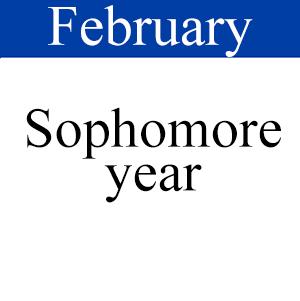 February Sophomore, Path to graduation