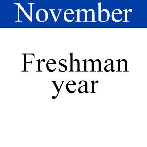 November Freshman Year