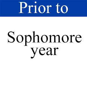 Prior to Sophomore