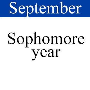 September Sophomore, Path to graduation