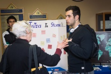Students and community members engaging during the resource fair