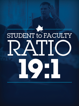 19 to 1 Student to Faculty Ratio