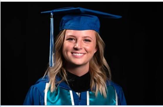 Hayley Tague commencement